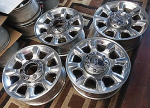 Ford F250 F350 Sd 20 Inch Factory Original Oem Aluminum Alloy Wheels Rims 3844