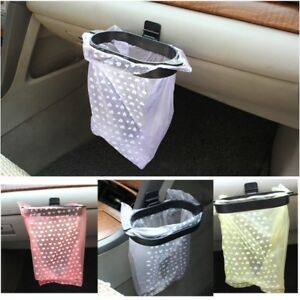 2pcs Waterproof Disposable Trash Bag Car Vehicle Garbage Can Han
