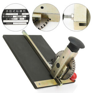 New Manual Metal Stamping Pet Tag Embossing Machine Deboss Plate Printing Tool