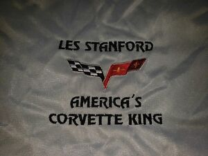 C6 Corvette Fitted Car Cover With Les Stanford Corvette King Logo
