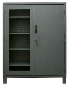 Durham Access Control Cabinet 60x24x78 1 Solid Door 1 See through Door