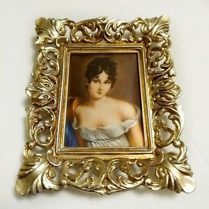 Vintage Ornate Picture Frame Metallic Victorian Style 3 5 X 7