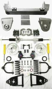 1936 1948 Chevy Car Mustang Ii Manual Front End Suspension Kit 2 Drop Slotted