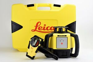 Leica Rugby 610 Rotary Self Leveling Rotating Laser W Rodeye Carrying Case