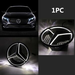For Mercedes Benz Illuminated Led Light Snap In Front Grille Star Emblem Badge