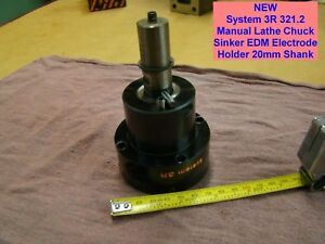 New System 3r 321 2 Manual Lathe Chuck Sinker Edm Electrode Holder 20mm Shank