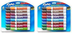 Expo 81045 Low odor Dry Erase Markers Chisel Tip Assorted Colors 2 Blister Pa