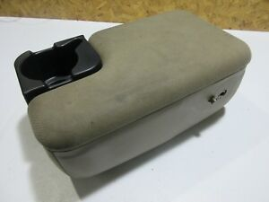 2 Two Bolt 1998 04 Ford Ranger Center Console Armrest Tan Brown Cup Holder