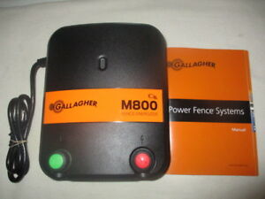 Nwop Gallagher M800 8 Joule Electric Fence Charger 520 Acres 90 Miles