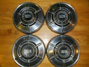 Set Of Four Ford Falcon Dog Dish Hub Caps