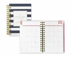 2019 Calendar Planner Appointment Book Daily Travel Agenda Notebook Tabbed Navy