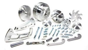 March Performance Aluminum Big Block Chevy Serpentine Ultra Pulley Kit P N 23050