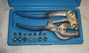 Roper Whitney No 5 Jr Hand Punch Set With Case Free Shipping