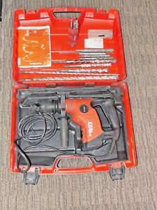 Hilti Te 6 s Corded Rotary Hammer Drill W Bits And Case