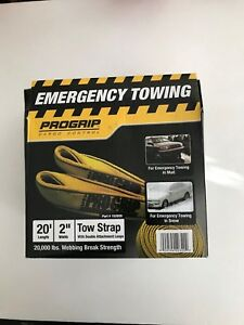 Progrip 2 X 20 Tow Strap 152020 20 000 Lbs Breaking Strength New In Package