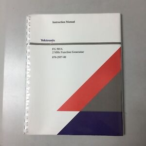 New Tektronix Fg501a 2 Mhz Function Gen Instruction Manual p n 070 2957 00