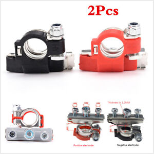2pcs Heavy Duty Car Vehicle Battery Terminal 3 Ways Cable Clamp Quick Connector