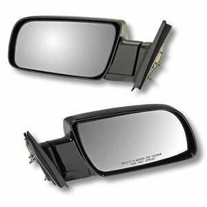 88 98 Chevy Gmc Pu Pickup Truck Door Mirrors Black Manual Left Right Side Set