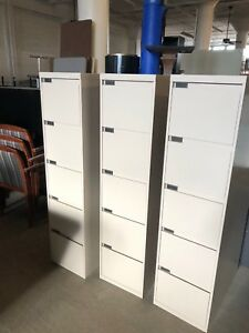 Lot Of 3 5dr Letter Size File Cabinet By Steelcase Office Furniture