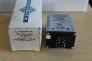 Macromatic Tr 51662 12 Time Delay Relay Nos