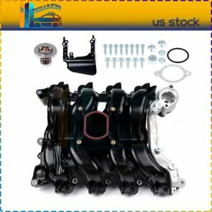 Intake Manifold W Thermostat Gaskets Kit Fits Lincoln Town Car Mercury
