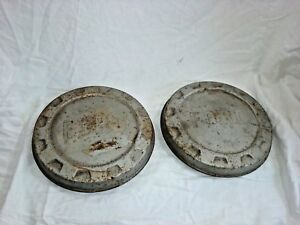 1961 1966 Ford Truck Bottle Cap Dog Dish Hub Caps 9 5 Set Of 2 H35