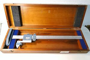 Brown Sharpe Model 586 Vernier 20 Gage Height Caliper In Custom Case
