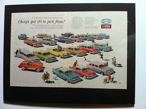 1957 Chevrolet Belair Corvette Nomad Gm ready To Display car Ad Gift 1956