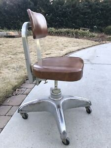 Vintage Industrial Cole Steel Office Chair Mid Century Modern Steampunk Mcm