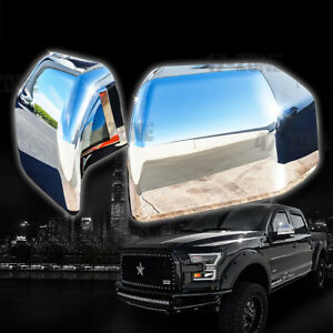 For 2018 Ford F 150 Chrome Top Half Mirror Cover