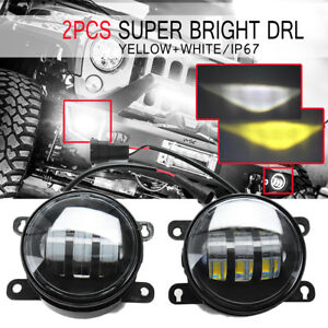 Amber white Cob Led Front Bumper Drl Fog Light For Suzuki Sx4 Grand Vitara Swift