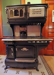 Antique Cast Iron Gas Range 1917 Gold Medal Glenwood Fully Functional