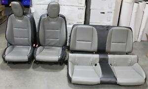 2010 2015 Camaro Ss Gray Black Leather Seats Front Rear Coupe Buckets Used