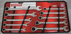 Craftsman 10 Piece Standard And Metric Ratcheting Wrench Set 13321