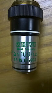 Zeiss Ph3 Plan 100 1 25 Oil 160 461911 9902 Microscope Objective Lens