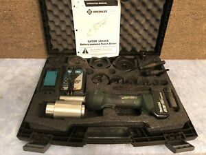 Greenlee Ls100x11sb4 1 2 To 4 11 ton Slugbuster Intelli punch Tool Kit