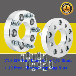 2pcs 1 25 Wheel Adapters 5x4 5 To 5x5 1 2 X20 10 Lug Nots For Jeep Ford Edge