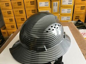 Hard Hat Construction Hydro Dipped Carbon Fiber Maintenance And Safety For Men