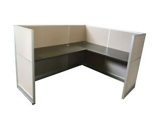 Steel Case Used Office L Shape Cubicles Available In Different Dimensions