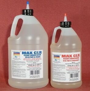Epoxy Crystal Clear Low Toxicity 4 Casting Coating Sealing Wood Metal