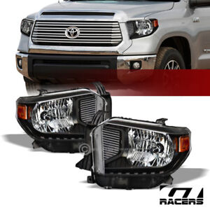 Clearance For 2014 2018 Tundra Black Housing Headlights Signal Amber Dy