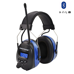 Protear Rechargeable Lithium Battery Bluetooth Radio Am fm Safety Earmuffs Nrr