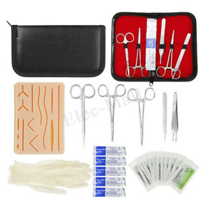 25in1 Medical Suture Surgical Training Kit Silicone Pad Needle Scissors Practice