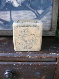 Antique Wood Block Reindeer