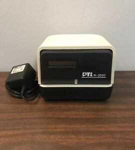 Tested Pti Pyramid M 3500 Time Clock Stamp Recorder