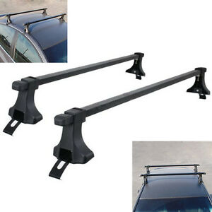 54 Steel Universal Roof Top Rack Cross Bars Luggage Carrier Mount Suv Truck