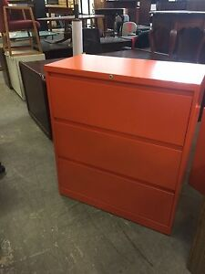 3dr 36 wx18 dx41 1 2 h Lateral File Cabinet Bysteelcase 900 In Orange W lock