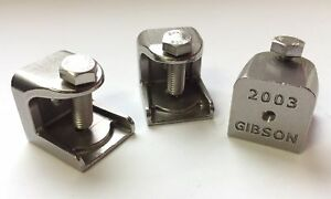 Lot Of 3 Gibson 2003 Beam Clamp Electrical Fitting 3 8 316 Ss Stainless Steel