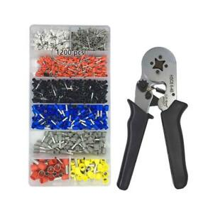 Crimper Pliers Set Vlike Wire Crimping Tool Kit W 1200 Terminal Connector Sleev