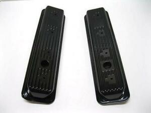 1987 2000 Small Block Chevy Gmc Black Center Bolt Short Valve Covers Sbc 305 350